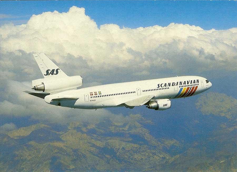 famgus aviation postcards  sas